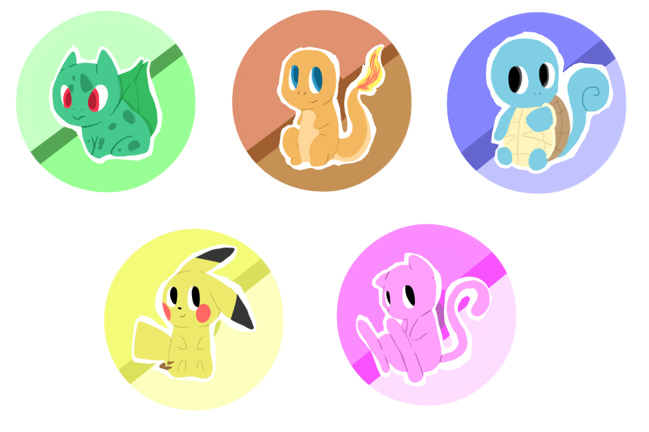 Pokemon Buttons by PikaIsCool