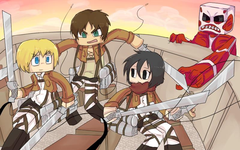 Shingeki No Minecraft :: Attack on Minecraft by PikaIsCool