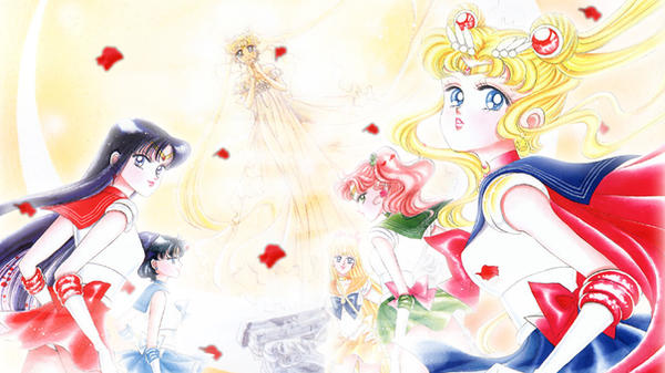 Sailor Moon Manga Wallpaper by Senshi-chan