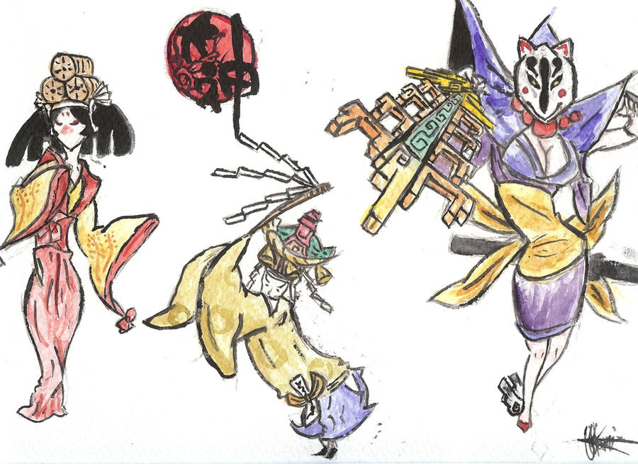 Okami characters 3 by Forest-Wolf - 140.6KB