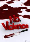 No Violance 3D Poster Design