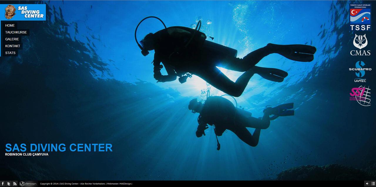SAS Diving Center Web Interface Design