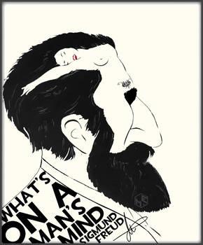 Sigmund Freud - Drawing