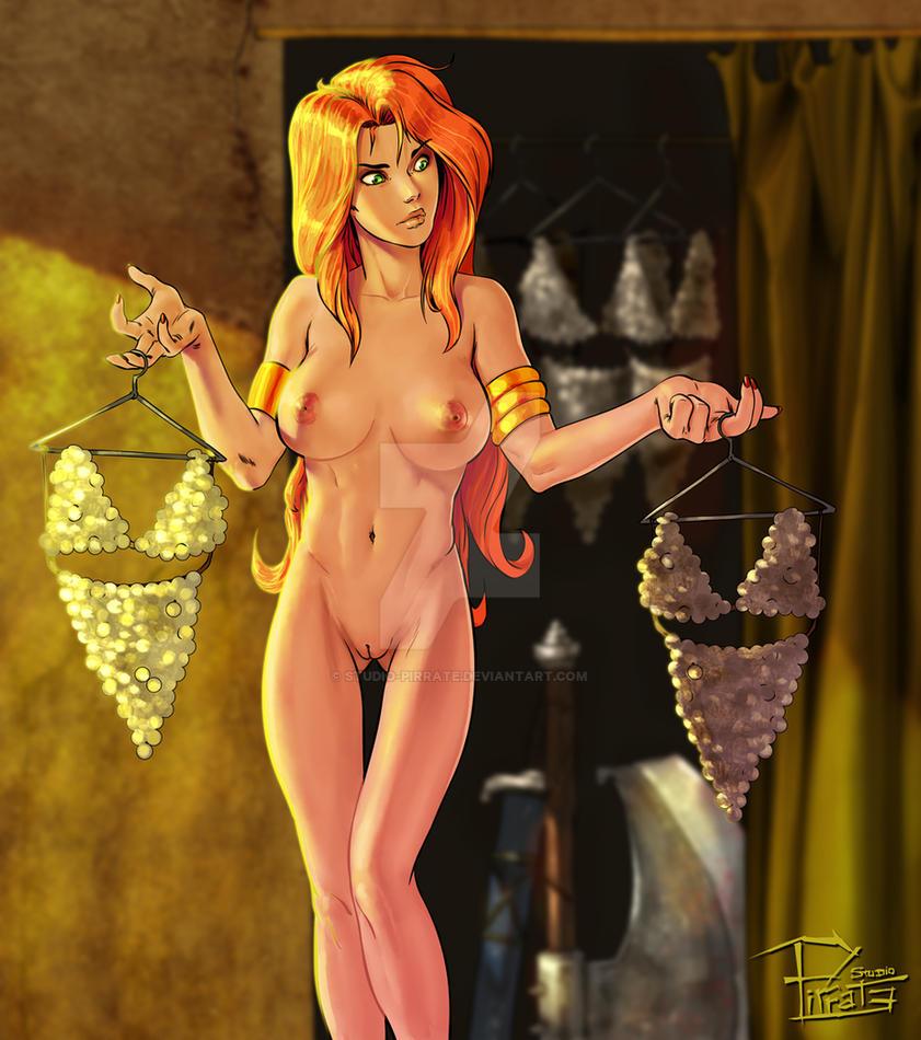 June Patreon pinup - Red Sonja by Studio-Pirrate