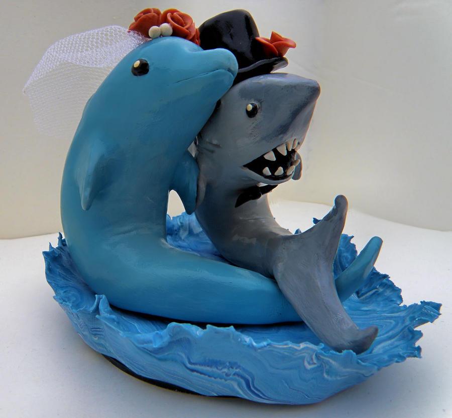 Shark And Dolphin Cake Topper By MercuryBlaze On DeviantART