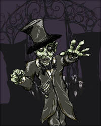 Zombie Abe by severedconnection