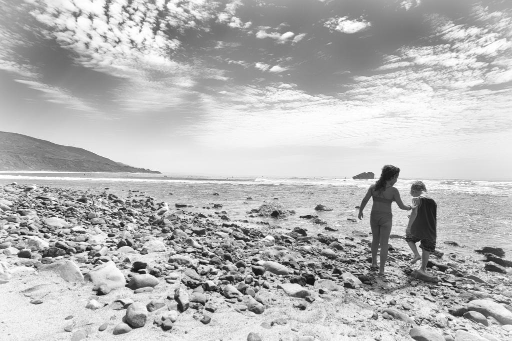 Kids at the Beach by clippercarrillo