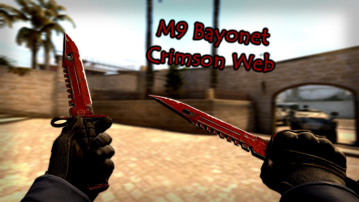 m9 bayonet crimson web by krisser143 on deviantart
