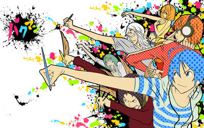 Bakuman Splatter Wallpaper