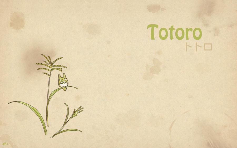 totoro wallpaper. Totoro - Wallpaper 1 by