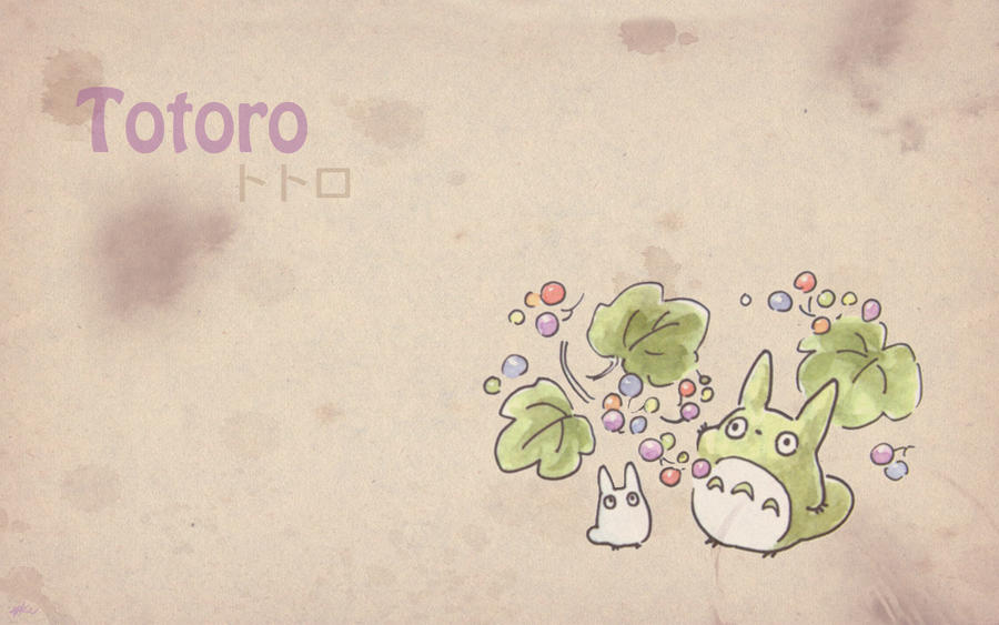Totoro Wallpaper 5 by Kookookchoo on DeviantArt