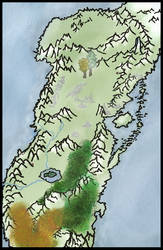 Map of the Undying Lands (unlabeled) by OracleofImladris