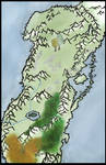 Map of the Undying Lands (unlabeled)
