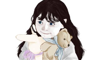 Baby Erestor with a Bear by OracleofImladris