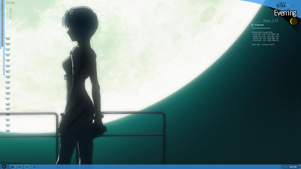 NGE Rainmeter Desktop by PoisonAlvie