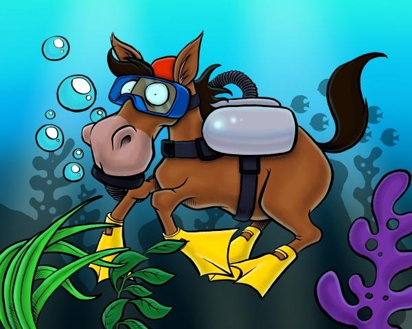 Seahorse by morseyillustration