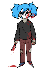 F2U Sally Face - contains blood by ZeroZeroSenpai