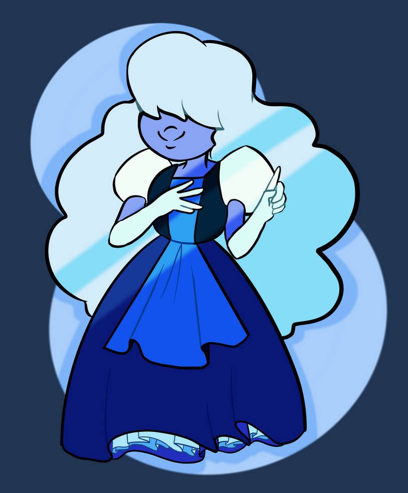 Have a sapphire I drew last night cuz recently getting to sleep is really hard