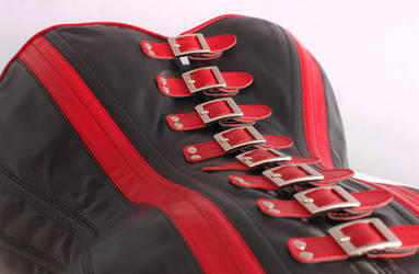 Red/Black buckled corset - remake by Me-Se