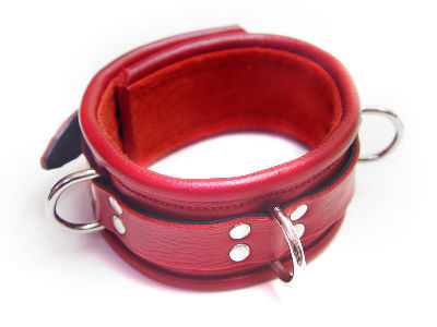 Heavy Bondage Collar Red by Me-Se