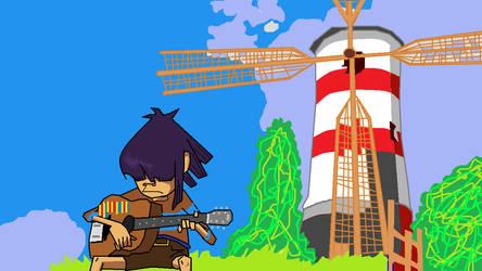 Gorillaz - Windmill Island by Ink23