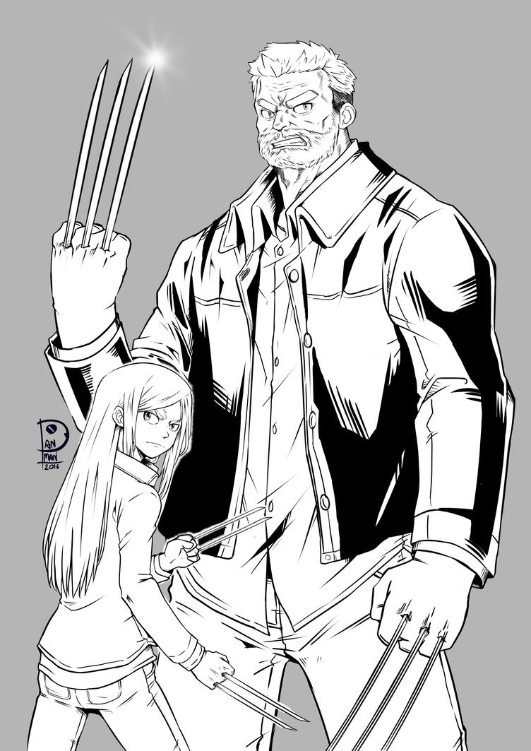 ink - Logan and X-23 by PANMANstudio