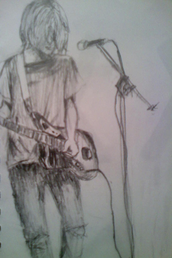 Cobain Sketch by AlexZandraLeigh