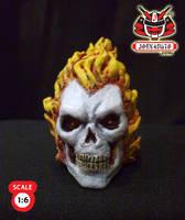 1.6 Head Sculpture ghostrider1 by wongjoe82