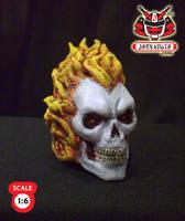 1.6 Head Sculpture ghostrider2 by wongjoe82