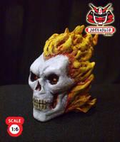 1.6 Head Sculpture ghostrider3 by wongjoe82