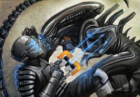 Alien VS DeadSpace by vitorzago