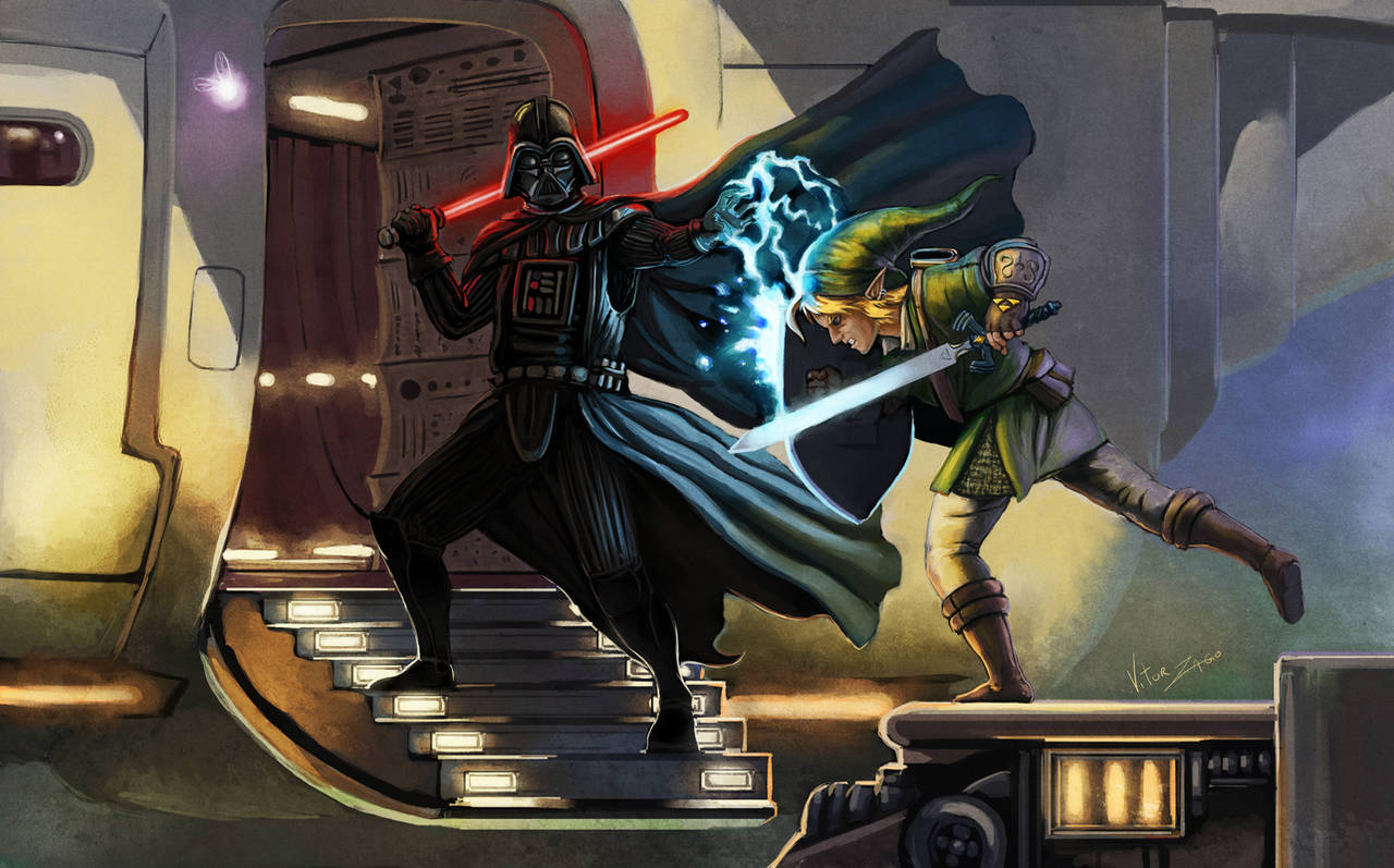Vader VS Link by vitorzago