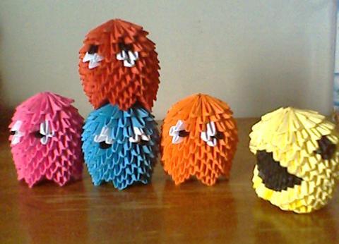 Pac Man Origami By Collarander