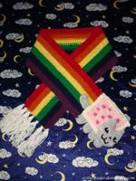 Nyan Cat Scarf by collarander