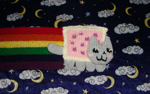 Nyan Cat Scarf - Wallpaper ver by collarander