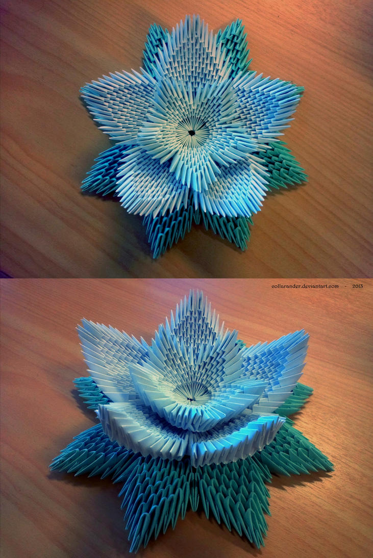 Large Origami Lotus by collarander