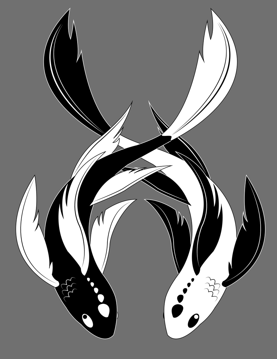 Yinyang koi by sasscannon on deviantart for Yin and yang koi fish