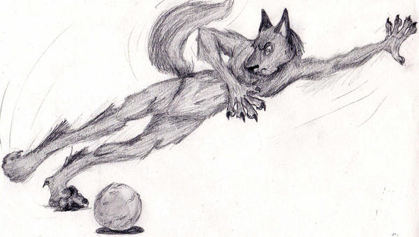 Werewolf shoot the moon by Lunard-Wolf