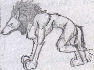 Little werewolf by Lunard-Wolf