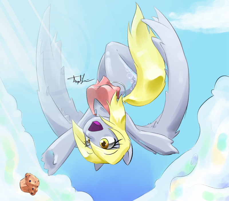Derpy Dropped her Muffin by A4ArtStuff