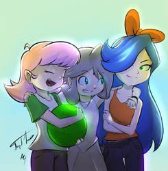AICA with Stargirl and Nova by A4ArtStuff