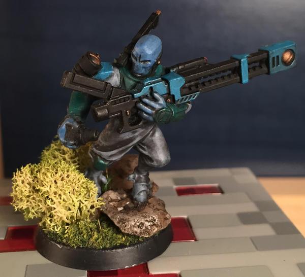 Pathfinder shas'ui with rail rifle by Jaxler