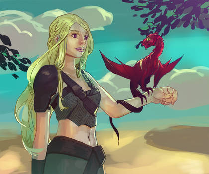 Dany and a dragon