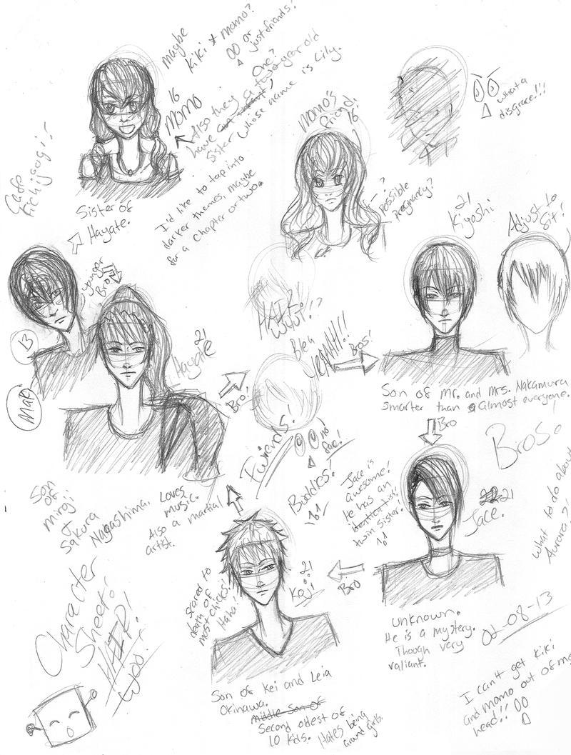Doodle Art Character Design : Character design doodles by nami on deviantart