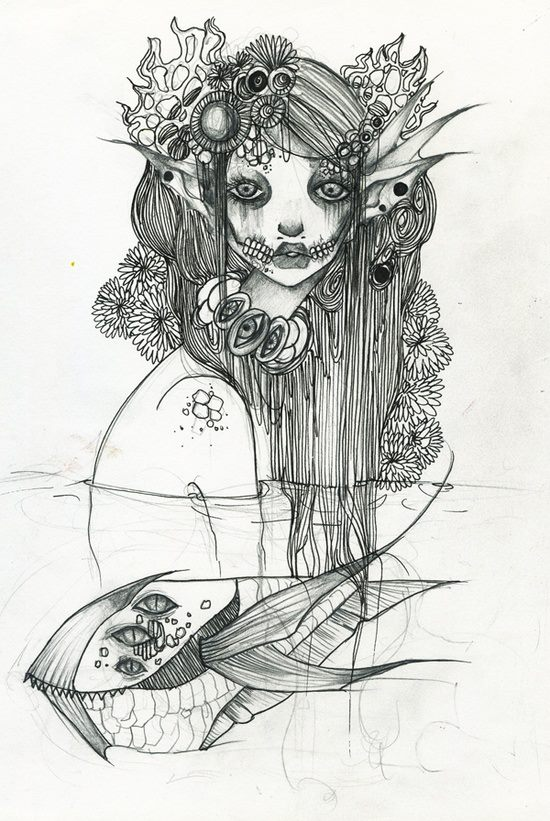 Original Mermaid For Sale By Lalalandofclouds On DeviantArt