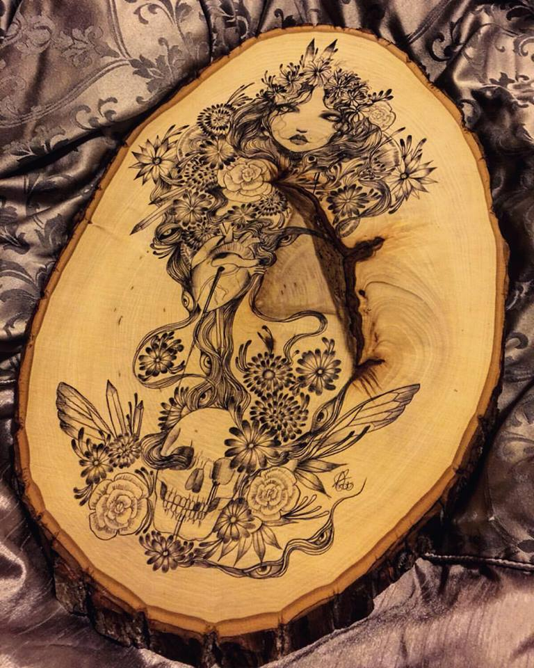 Polaris original art on wood by lalalandofclouds
