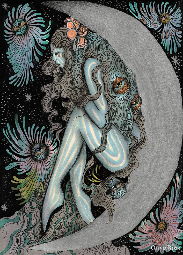 The Moon Tarot card by lalalandofclouds on DeviantArt