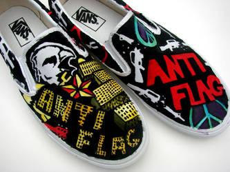 Wicks Antiflag shoes by AquaTigerFire