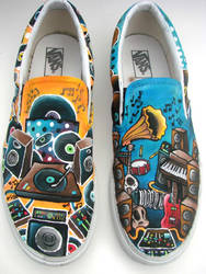 Musical Shoes by AquaTigerFire