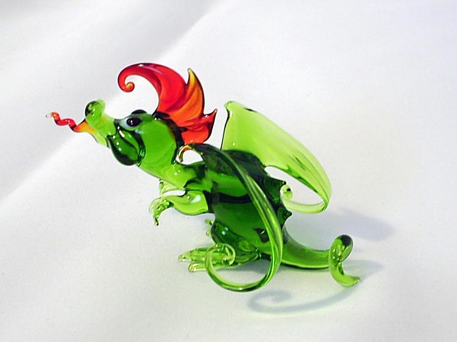 Little Dragon - green by Glasmagie